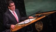 Sigmar Gabriel bei seiner Rede vor der UN-Vollversammlung am Donnerstag in New York