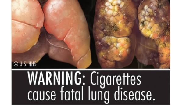 Warnhinweise auf   Zigarettenpackungen