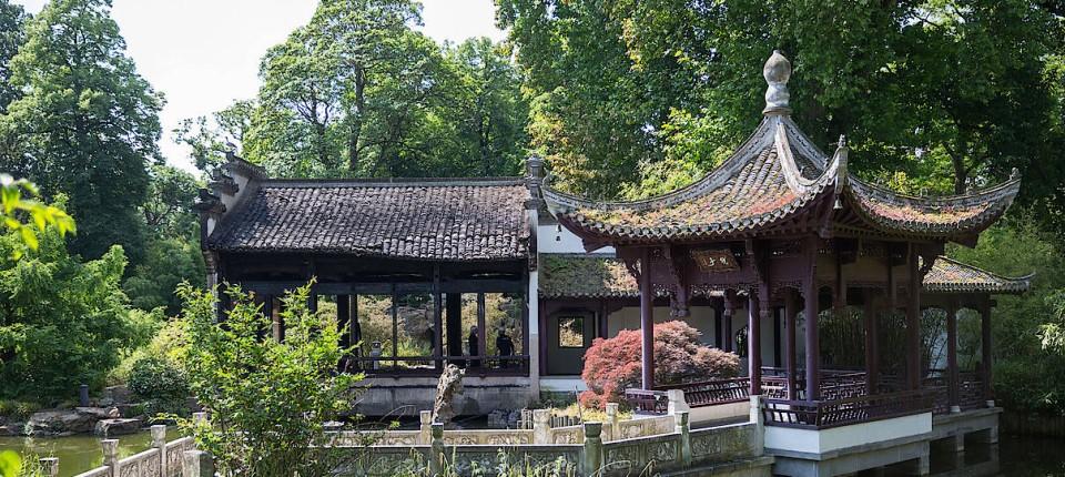 Chinesischer Garten Frankfurt Chinesen Sanieren Wasserpavillon