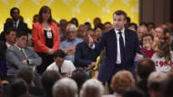 """""""Hat jemand Zweifel an der EU?"""" Macron am Dienstagabend in Epinal"""