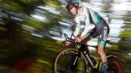 Tour-Vierter Emanuel Buchmann während des Zeitfahrens bei der 13. Etappe der Tour de France