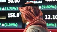 Der Konflikt um einen möglicherweise getöten Journalisten trifft die Wirtschaft Saudi-Arabiens – unter anderem die Börse in Riad.