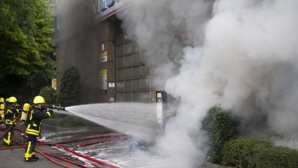 Feuerwehr mit Großaufgebot im Einsatz