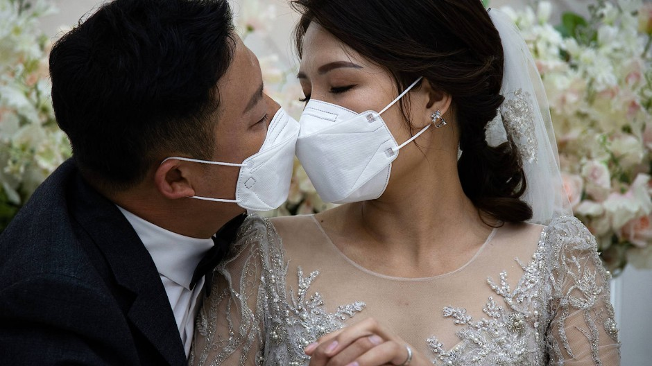Ein ungewöhnliches Bild: Während der Pandemie trauen sich weniger Paare, die große Feier wurde zumeist hoffnungsvoll auf das Jahr 2021 verschoben.