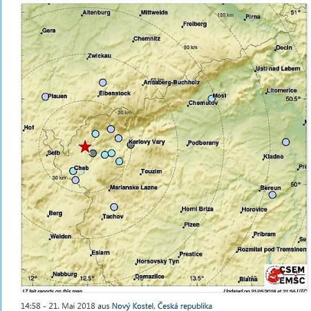 Karte Tschechien.Grenzregion Zu Tschechien Erdbeben Der Stärke 4 2 Erschüttert Das