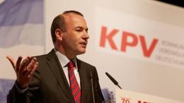 Manfred Weber will nicht neuer Parteichef werden