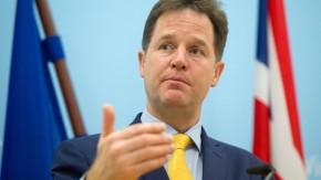 """Der stellvertretende britische Premierminister Nick Clegg: """"Konservative geraten wegen des Erfolgs der Ukip-Partei in Panik"""""""