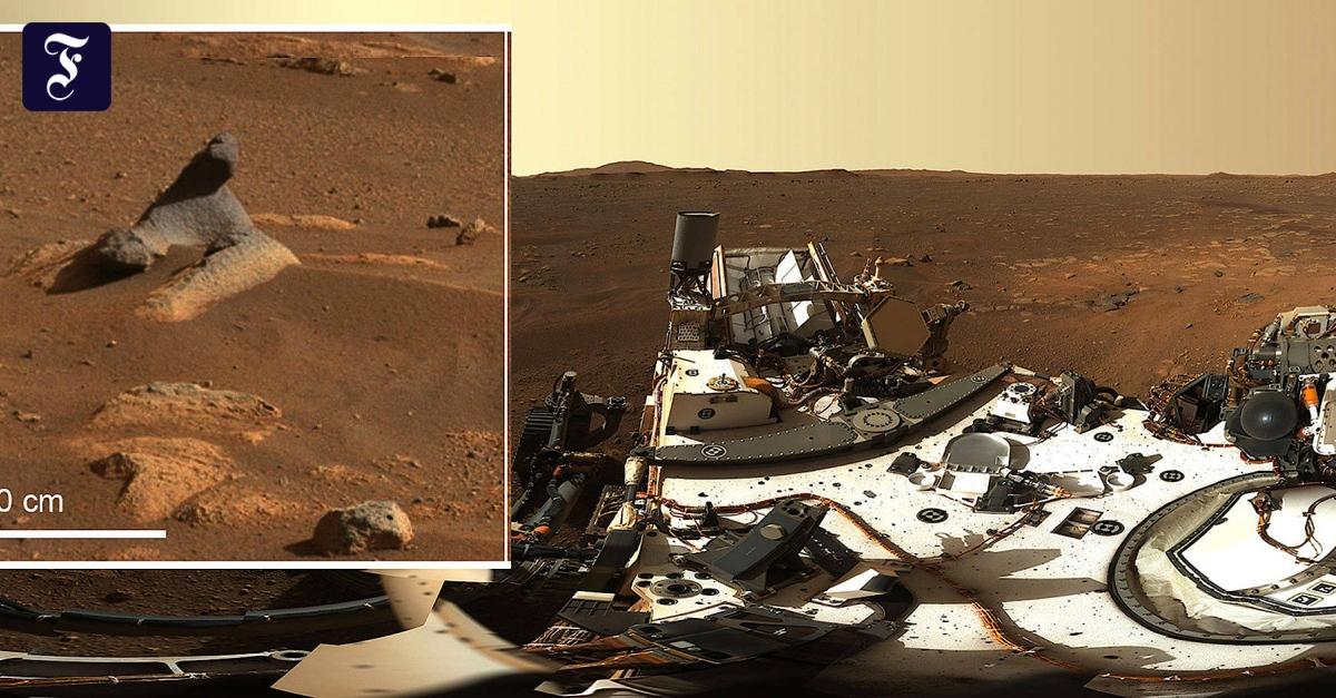 """""""Perseverance"""" schickt spektakuläres Panorama-Bild vom Mars - FAZ - Frankfurter Allgemeine Zeitung"""