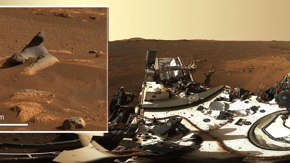 """Der amerikanische Rover """"Perseverance"""" hat ein hochaufgelöstes 360-Grad-Panorama-Bild aufgenommen."""