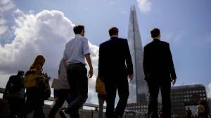 Brexit-Sorgen in der City of London