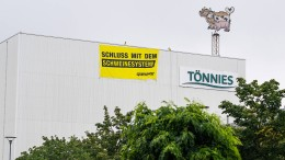 Greenpeace-Protest bei Tönnies