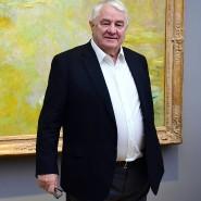 "Hasso Plattner während der Ausstellung ""Monet.Orte"" im Museum Barberini im Februar."