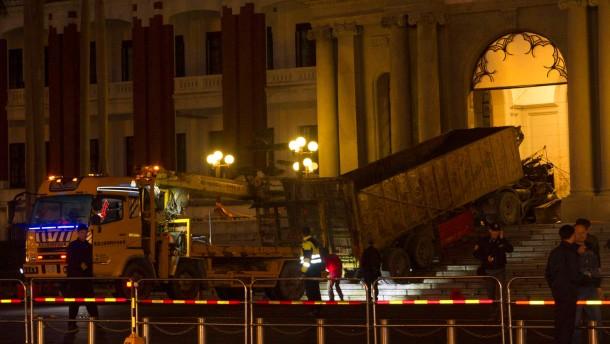 Lastwagen rammt Präsidentenpalast in Taipeh