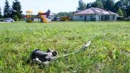 Beim Rasenmähen wurde das Trümmerteil in der Nähe eines Kindergartens entdeckt.