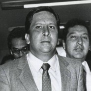 Opfer des Medellín-Kartells: Justizminister Rodrigo Lara Bonilla kurz vor seiner Ermordung 1984