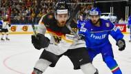 """""""Es war ein eiskalter Start, aber alles kein Problem"""": Leon Draisaitl flog erst am Samstagmorgen aus Kanada ein und spielte schon am Abend gegen Italien."""