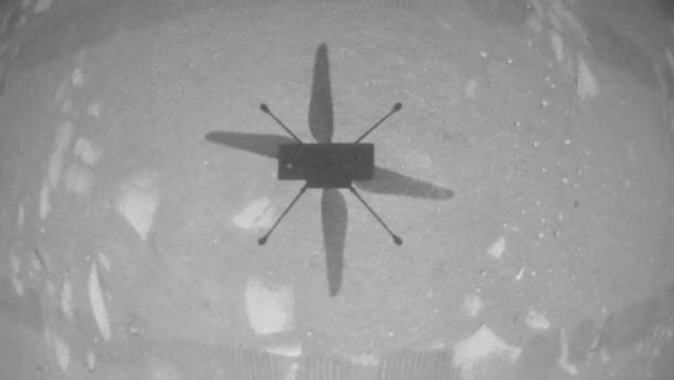 """""""Ingenuity"""" übertrifft sich bei drittem Flug selbst"""