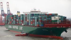 """CSCL Globe"" legt in Hamburg an"