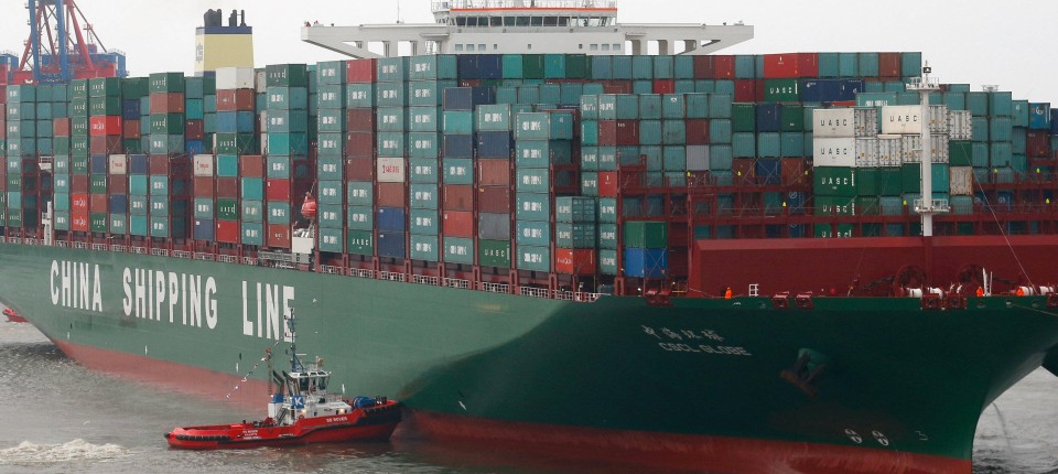 Cscl Globe Legt In Hamburg An Größtes Schiff Der Welt