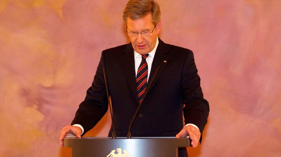 Bundespräsident Wulff am Donnerstag im Schloss Bellevue