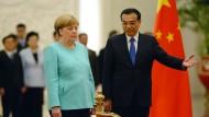 Bundeskanzlerin Angela Merkel und Chinas Premier Li Keqiang im Juni 2016 in Peking.