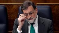 """""""Weder heute noch morgen"""" will Mariano Rajoy vom Amt des spanischen Ministerpräsidenten zurücktreten."""