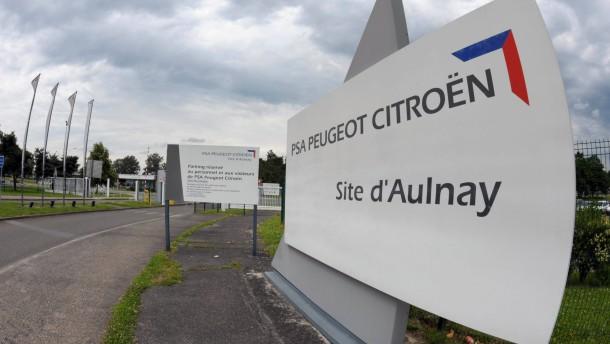 Peugeot-Citroën streicht in Frankreich 8000 Stellen