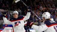 Die amerikanische Nationalmannschaft steht vorzeitig im Viertelfinale der Eishockey-WM.