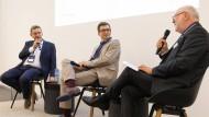 Im Gespräch auf dem F.A.Z.-Kongress (v.r.n.l.): Werner D'Inka, Peter Hoeres und Jürgen Scharrer.