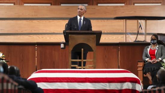 Barack Obama erweist John Lewis die letzte Ehre