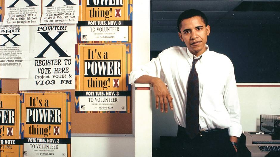 """""""Dann musst du mit Geistern ringen"""": Obama 1992, mit ca. 31."""