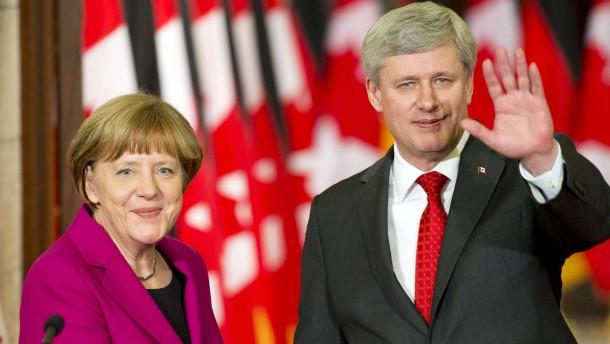 Merkel und Harper verteidigen Ceta