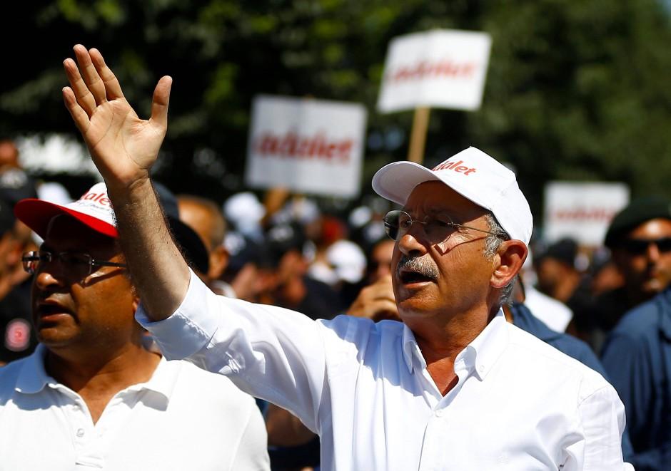 An der Spitze der Bewegung: CHP-Chef Kemal Kılıçdaroğlu