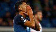 Hoffenheims Kerem Demirbay enttäuscht beim Europa League Spiel gegen Sporting Braga.
