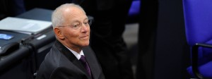 Der neue Bundestagspräsident Wolfgang Schäuble am Dienstag im Parlament vor seiner Wahl