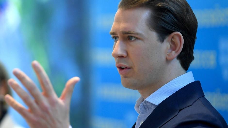Der österreichische Bundeskanzler Sebastian Kurz (ÖVP)