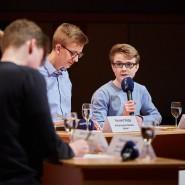 Eine Jugenddebatte aufgenommen im Sendesaal des Hessischen Rundfunks im April 2018.
