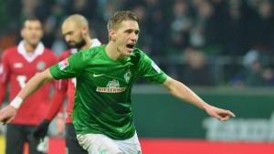 Petersen schießt Bremen zum Sieg