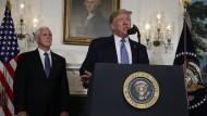 Trump am Montag bei einer Rede im Weißen Haus