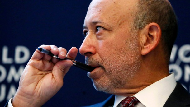 Blankfein, chairman and CEO of Goldman Sachs Group attends the annual meeting of the World Economic Forum in Davos