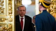 Recep Tayyip Erdogan am Freitag bei seinem Besuch im Moskauer Kreml