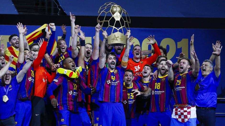 Verdiente Sieger: Die Spieler des FC Barcelona haben in dieser Champions-League-Saison jedes Spiel gewonnen.