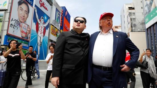 Kim und Trump in Japan