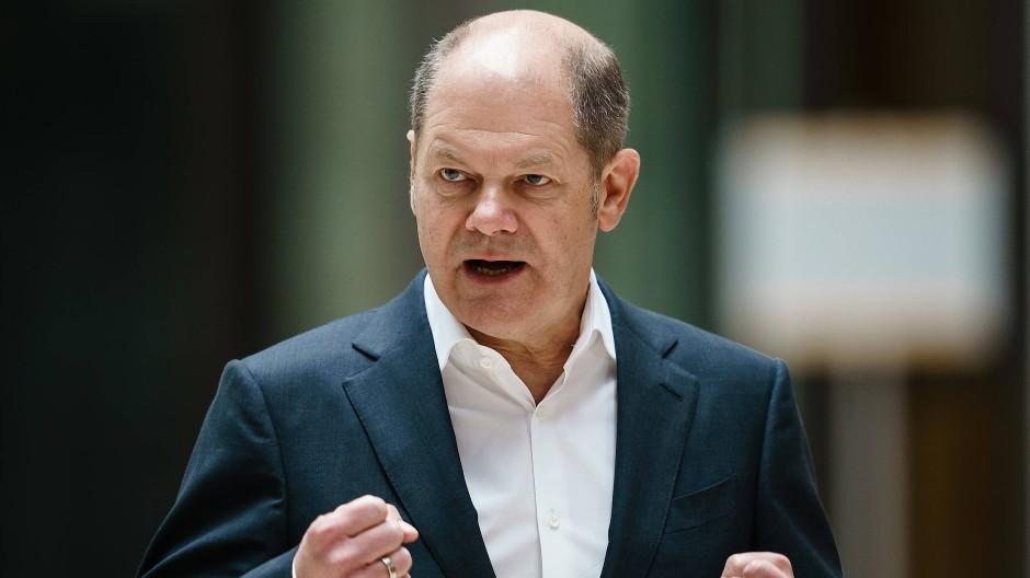 Gibt offenbar ein gutes Bild ab in der Krise: Deutschlands Finanzminister Olaf Scholz (SPD)