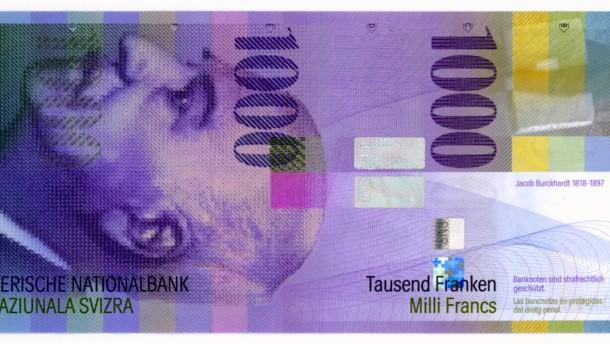 Schweizer Banknoten - 1000 Franken