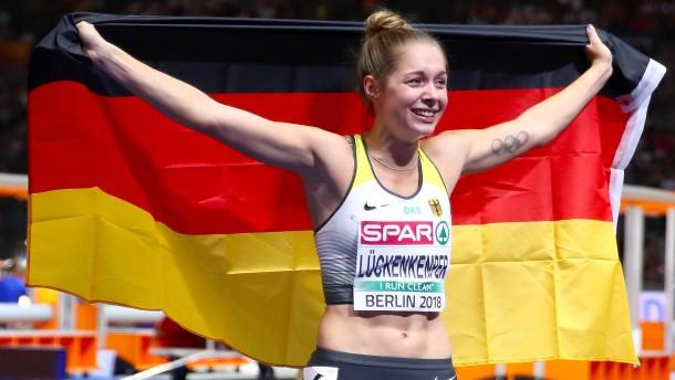 Gina Lückenkemper sprintet zu Silber