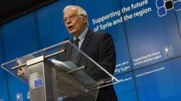 """EU fordert Druck auf """"Regime"""" in Damaskus"""