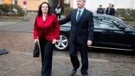 Andrea Nahles, damals noch SPD-Generalsekretärin, und ihr Ehemann Marcus Frings fotografiert im März 2012