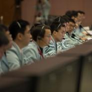 Bange Blicke auf die Monitore: Mit der Mond-Expedition meldet China als Weltraummacht an.