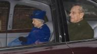 Die Queen geht wieder zum Gottesdienst